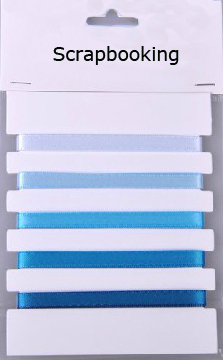Blue series satin ribbon collection