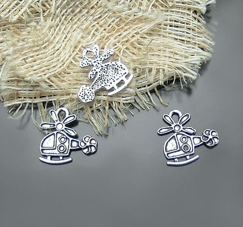 Copter charms metal for handicraft