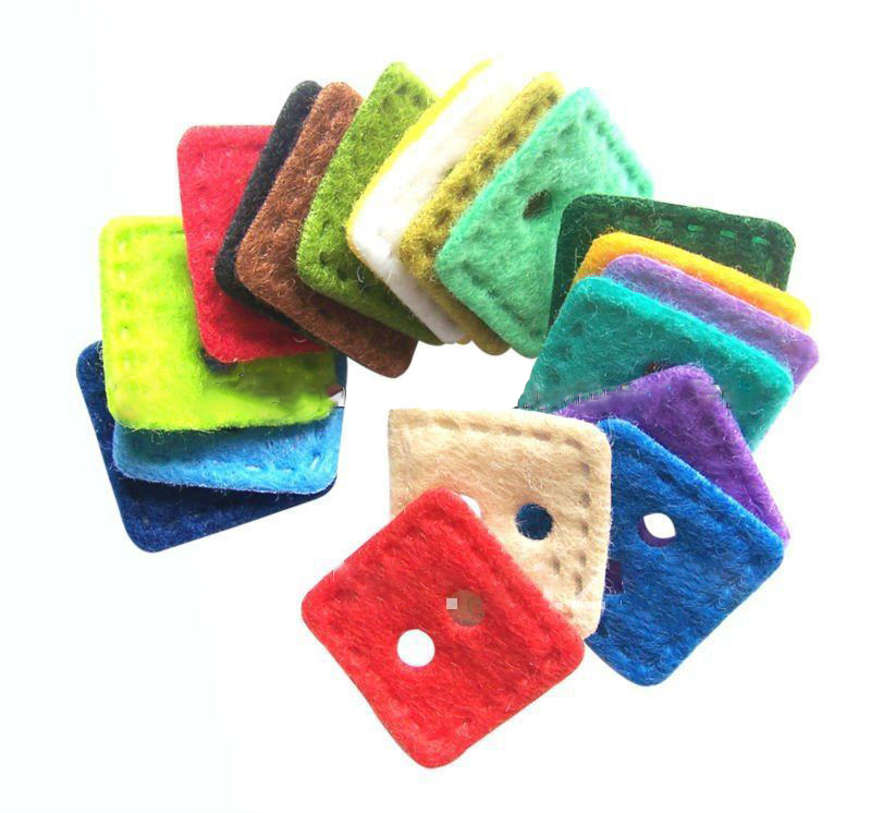 Felt shapes square felt Buttons