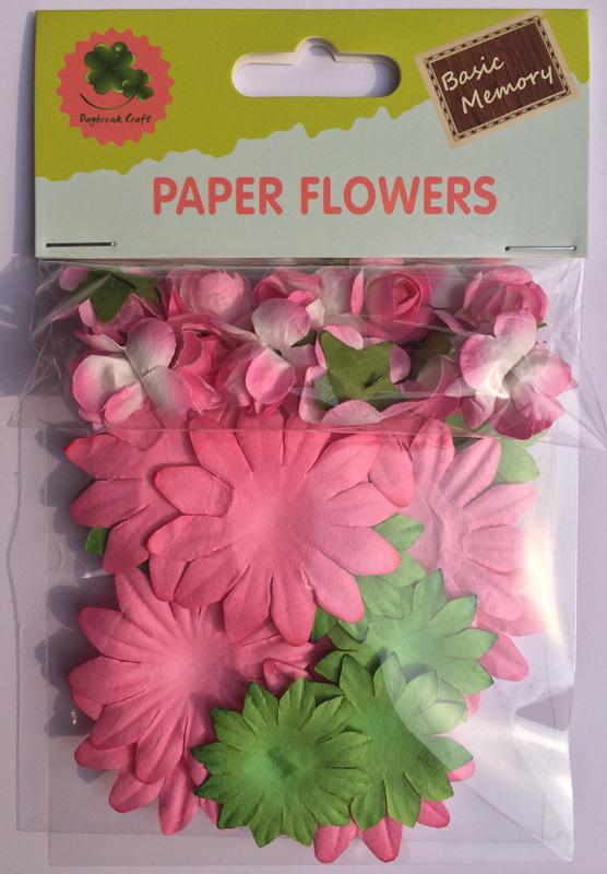 Scrapbook Paper Flowers Rose Flowers Cardmaking Embellishments