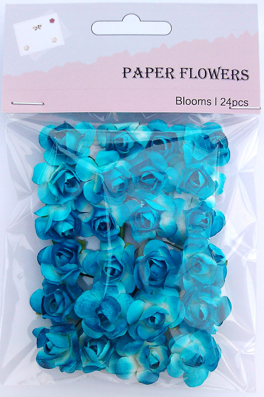 Cowboy scrapbook paper rose blooms