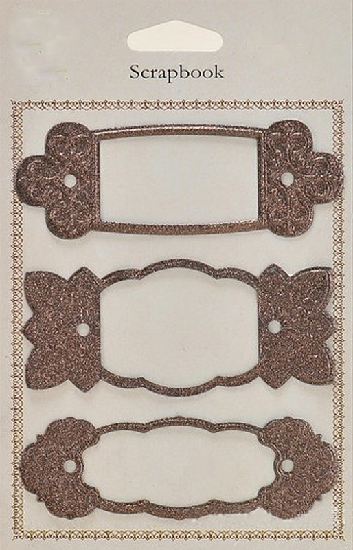 Decorative frame metal embellishments