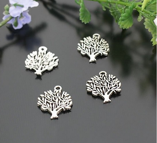 Decorating trees silver charms for bracelet