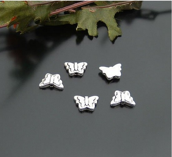 Butterfly charm beads for bracelet