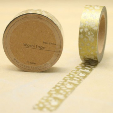Snowflack printed washi tape for christmas decorating