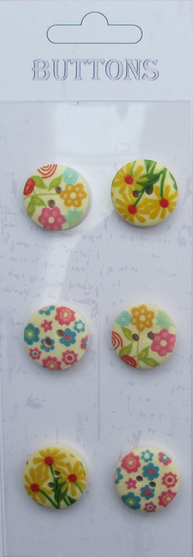 6pcs chinese factory wholesale 18mm wood buttons for craft