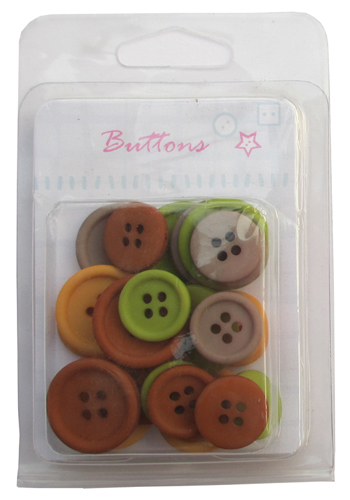 Assorted mix 4 holes plastic buttons collection