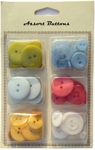 Bright assort plastic buttons mixed collection