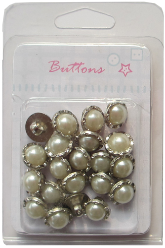 Decortive Plating silver shank pearl buttons