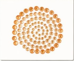 100pcs orange gems sticker