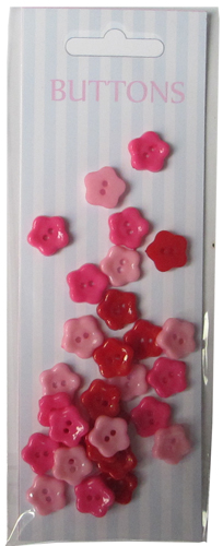 Red set craft plastic flower buttons-novelty buttons-embellishments