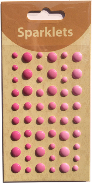 self adhesive enamel dots-pink collection-embellishments