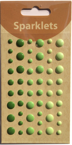 self adhesive enamel dots-green collection-embellishments