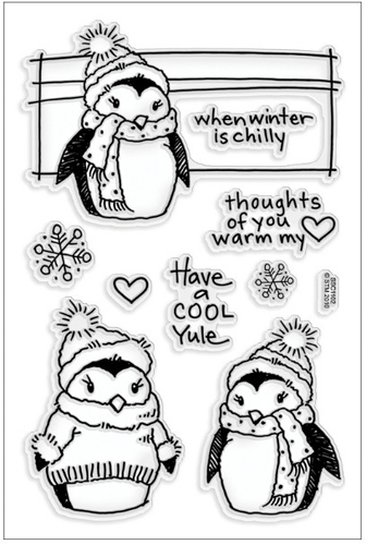 winter set scrapbook clear stamp