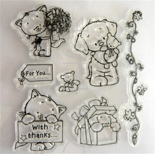 Teddy bear clear stamp