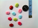 15mm apple buttons for scrapbooking