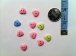 13mm craft plastic love buttons