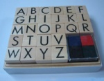 alphabet set wooden stamp