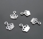 metal embellishments crown charms for scrapbooking