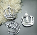 Alloy crown charms for craft