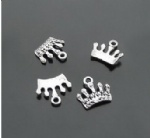 Metal crown charms wholesale