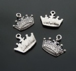 Crown shaped alloy charms for scrapbooking