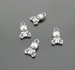 Teddy bear charms for holiday gift decorating