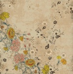 Antique flower scrapbook paper design