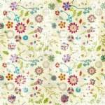 Flower printed craft paper for scrapbooking