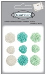 Resin embellishments rose flowers for scrapbooking