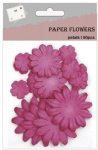 Scrapbook red flowers paper
