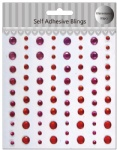 Scrapbook Red self adhesive gems sticker