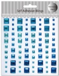 Craft blue square self adhesive gems sticker