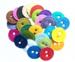 Scrapbook round felt buttons for handicraft