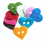 Decorative Heart felt shape buttons