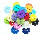 Decorative Flower shaped Buttons felt