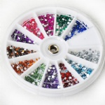 Assorted colorful rhinestones packs