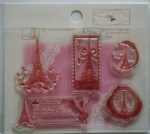 Antique Eiffel clear stamp for scrapbooking