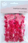 Peach Red scrapbook paper rose blooms