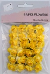 Yellow scrapbook paper rose blooms