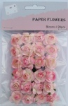 Pink scrapbook paper rose blooms