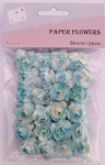 Baby blue scrapbook paper rose blooms