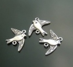Antique metal charms swallow for charms bracelet