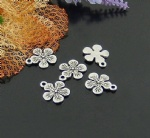 Flower alloy charms for bracelet