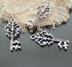 Decorative metal charms key collection