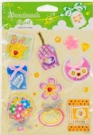 Flower peel 3D paper sticker for decorating