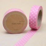 Pink tape with white dots washi tape