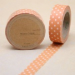 Orange tape with white dot washi tape