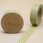 Yellow tape with black dots washi tape