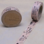 Comb with scissors printed decorating self adhesive washi tape